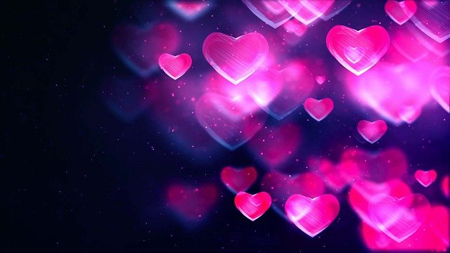 Abstract Hearts Background Love  - tommyvideo / Pixabay