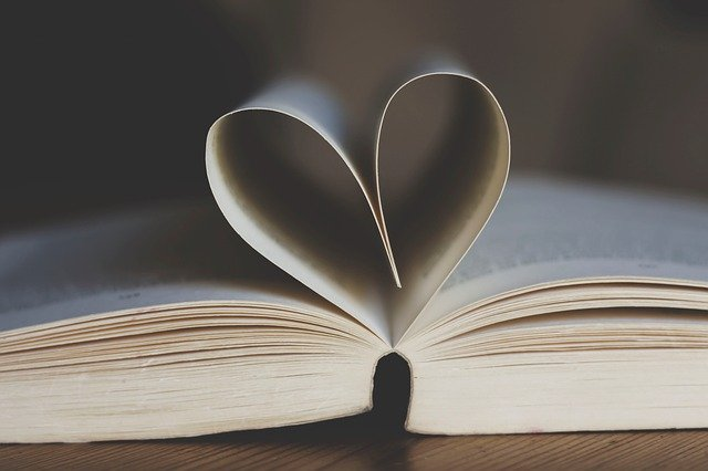Book Open Book Pages Heart Shape  - un-perfekt / Pixabay