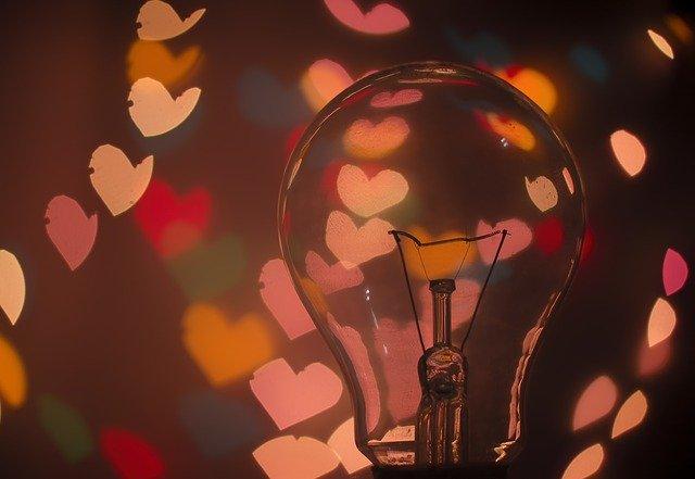 Bulb Light Bulb Dark Hearts Lights  - Pexels / Pixabay
