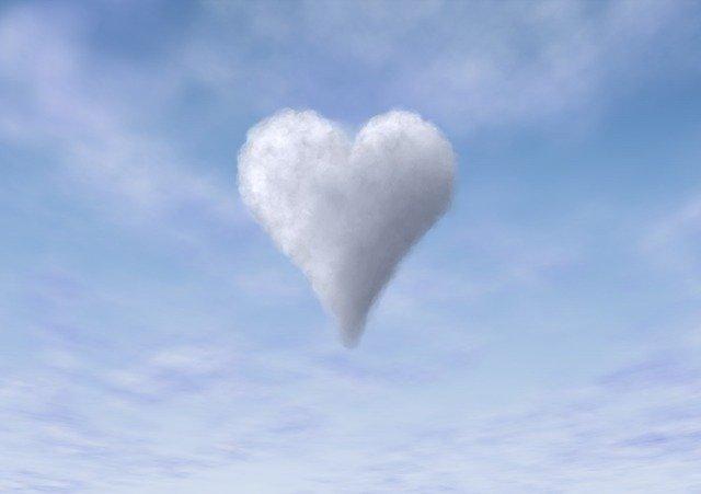 Cloud Sky Heart Blue Love  - 95C / Pixabay