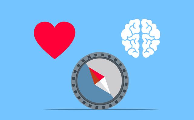 Heart Brain Compass Emotion Logic  - mohamed_hassan / Pixabay