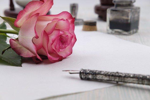 Rose Flower Letter Paper Bloom  - Bru-nO / Pixabay